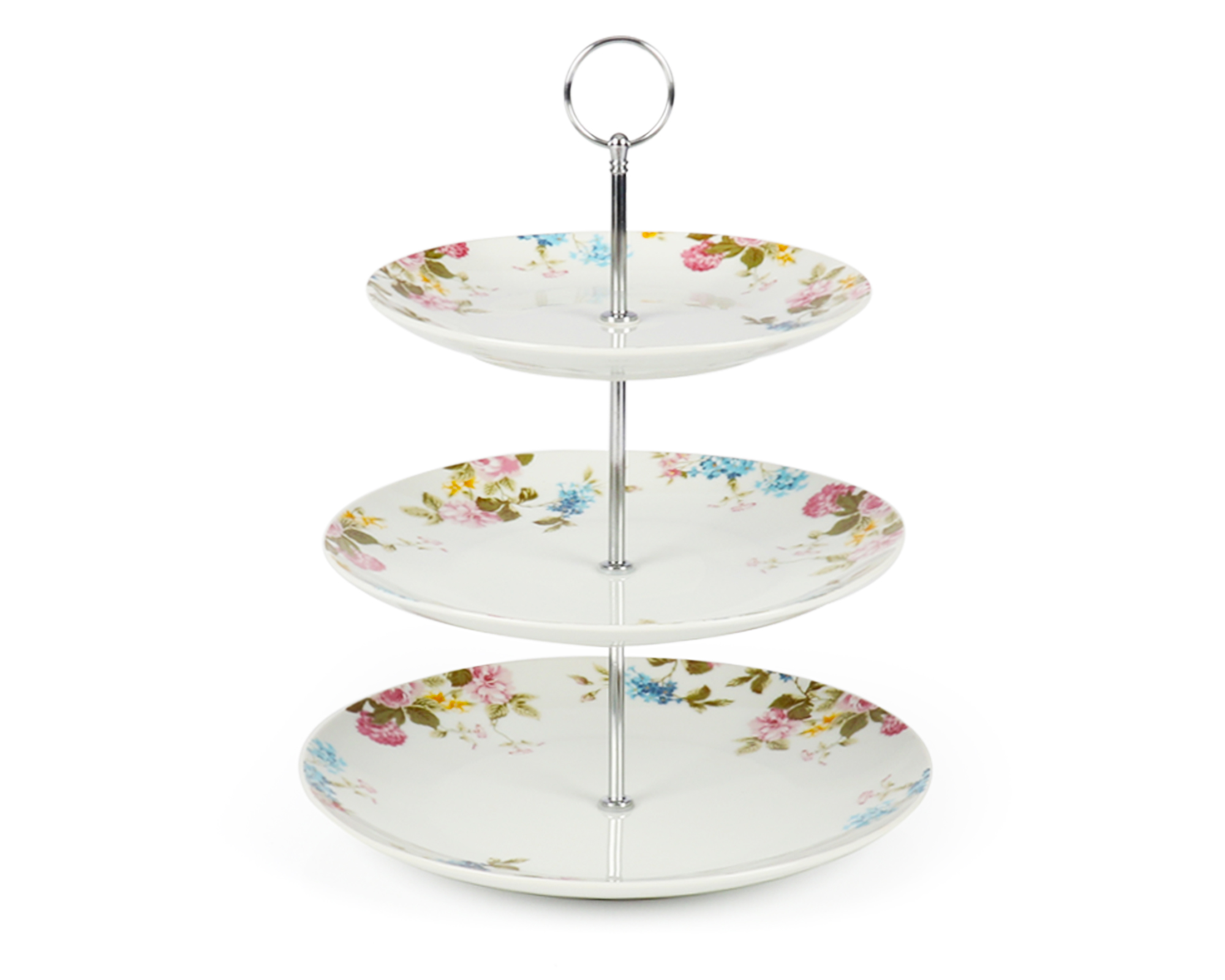 3-Tier porcelain cake stand decal pattern