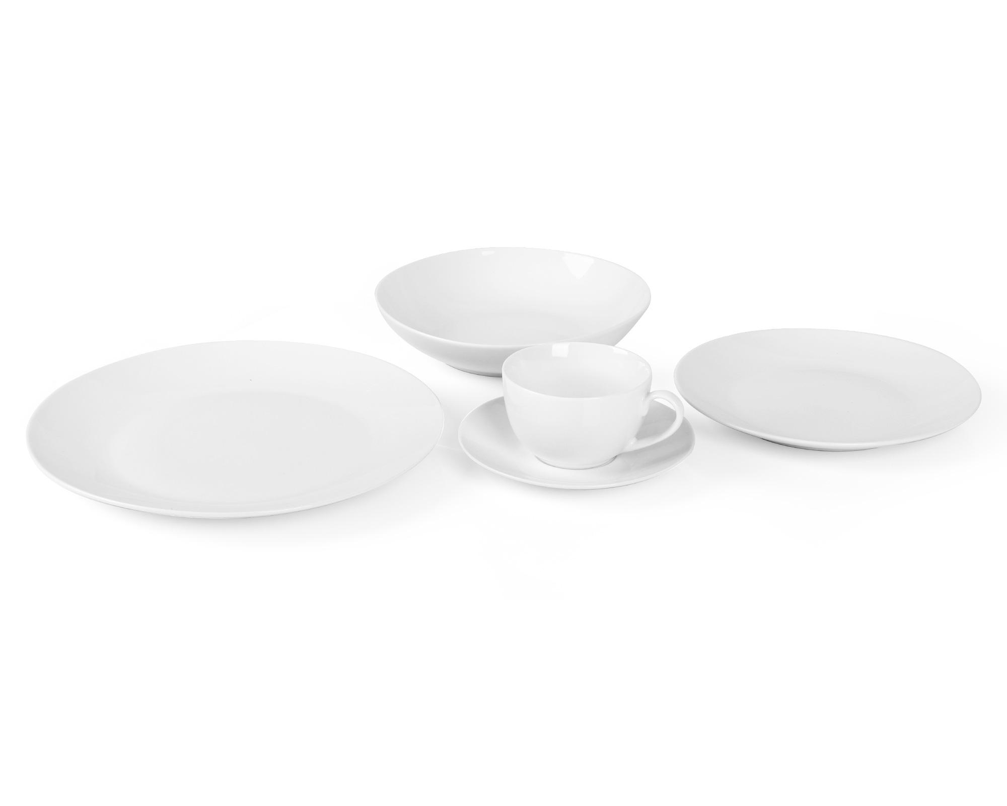 Coupe shape new bone china dinnerware set
