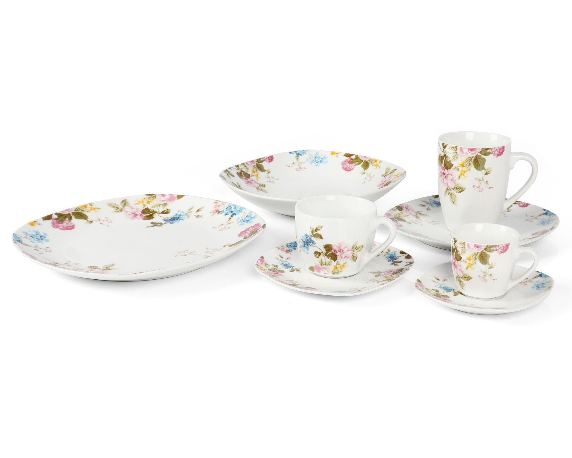 Porcelain tableware set 54pcs
