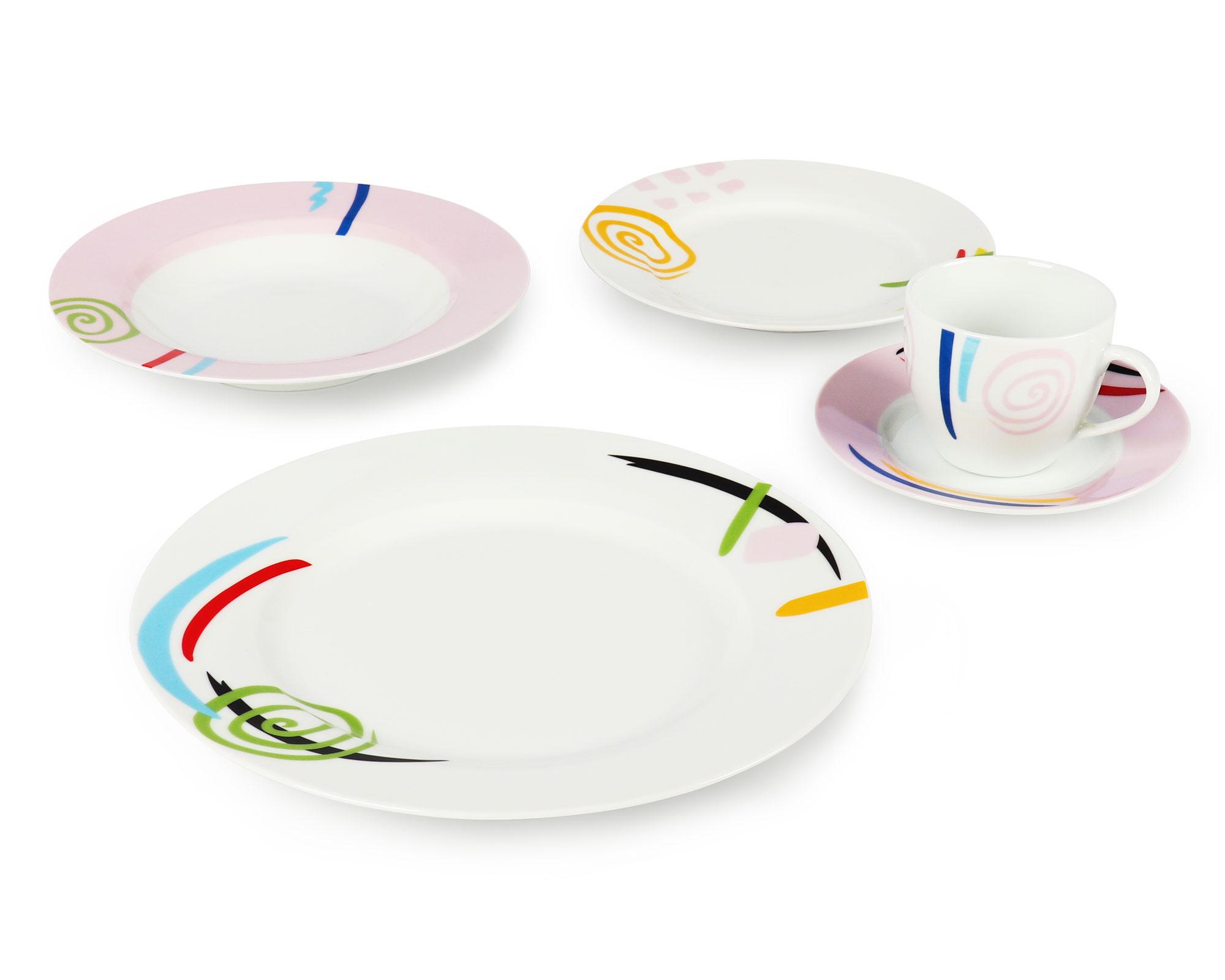 Round shape porcelain dinnerware set